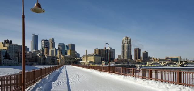 Stone Arch Bridge Winter